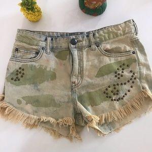Free People Denim Shorts Size 27
